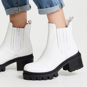 Fright white lug sole Chelsea boot